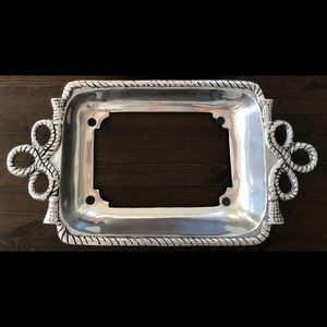 Other - NEW 9x13 Pewter Casserole Dish Holder Rectangle